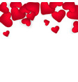 happy valentines day romantic design elements red vector image