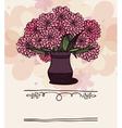 Vase with chrysanthemum vector image