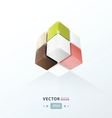 3D Cube for your design vector image