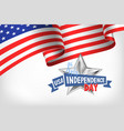 4th july usa independence day banner with american vector image vector image
