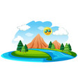 a river natural landscape vector image
