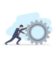 a young man in suit businessman is rolling vector image vector image