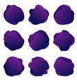 abstract fluid purple shapes round vector image