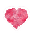 Abstract heart with handwritten inscription vector image vector image