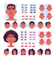 afro characters stylish african persons avatar vector image