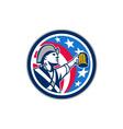 American Patriot Craft Beer Mug USA Flag Circle vector image vector image