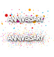 Anniversary banners vector image vector image