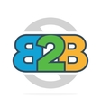 B2B letters logo or icon Business to Business vector image