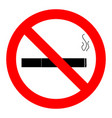 ban smoking icon vector image vector image