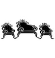 baroque black furniture rich ornamented vector image