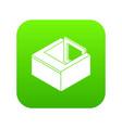 basement window frame icon green vector image vector image