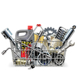 Basket with Car Spares vector image vector image