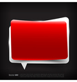 Blank red and white speech bubble layered vector image