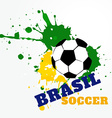brazil soccer game vector image vector image