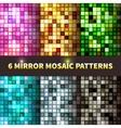 Bright set of shiny seamless mirror mosaic vector image vector image