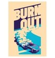 Burnout car Japanese drift sport Street racing vector image vector image