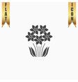 bush flower icon vector image vector image