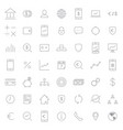busines and finance icon set vector image vector image