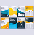 business flyers creative brochure abstract vector image
