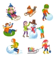 children playing in the vector image