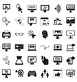 computer display icons set simple style vector image vector image