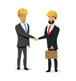 construction business partners handshake vector image