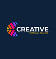 creative color letter c group logo design letter vector image vector image