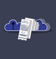 data security with cloud computing vector image