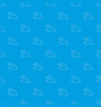 duck toy pattern seamless blue vector image