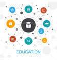 education trendy web concept with icons contains vector image