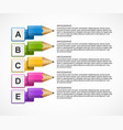 educational infographics template with pencil vector image