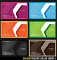 elegant business cards vector image vector image