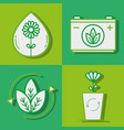 environment care liner icon flat vector image
