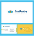 eye logo design with tagline front and back vector image