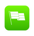 flag icon digital green vector image