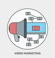 Flat design concept for Video Marketing for vector image vector image