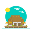 flat design over water beach restaurant vector image