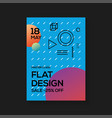 flat design poster templates vector image vector image