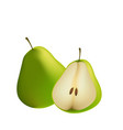fruit icon pear white background image vector image