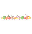 fruit panorama border art vector image