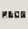 gold black abstract art print collection isolated vector image