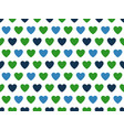 green and blue heart shape pattern vector image