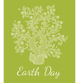 Green background with tree vector image vector image