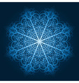 highly detailed blue snowflake vector image vector image