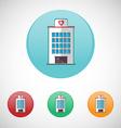 Hospital building icon set vector image vector image