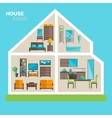 House inside furnishing ideas icon poster vector image vector image
