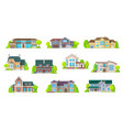 houses bungalow cottages real estate buildings vector image vector image