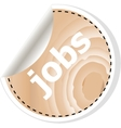 jobs word on business wooden app icon vector image vector image