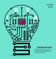 Light bulb circuit symbol vector image vector image