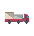 lorry truck with containers side view icon vector image vector image